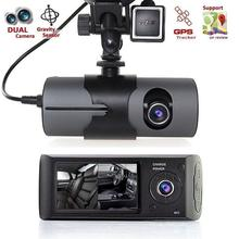 Tela <span class=keywords><strong>de</strong></span> 2.7 Polegadas Dual Camera Car DVR X3000 G-sensor GPS HD1080P <span class=keywords><strong>Auto</strong></span> Caixa Cam Camera Video Recorder
