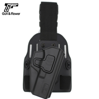 Right Handed Tactical Polymer Drop Leg Holster for Glock 17