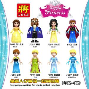 Legoing Girls Friends F002-009 Figures Snow White Elsa Belle Alana Compatible Legoings Princess Building Blocks Toys Girls Gifts