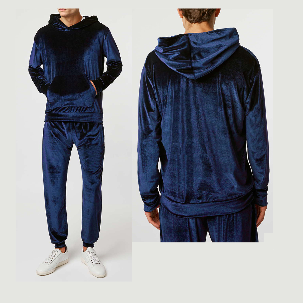 Wholesale Mens Athletic Hoodies Set Custom Mens Velvet Tracksuit Buy Mens Velvet Hoodies,Custom Velvet Tracksuit Men,Mens Tracksuit Product on