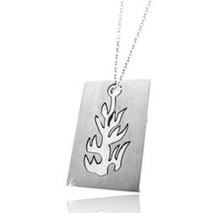 Flame design rectangle charms stainless steel jewelry blanks
