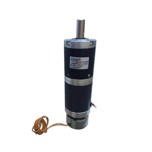 Wholesale 50mm diameter 12mm shaft 12v 30nm 90w dc planetary metal gear motor with brake for Fire curtain