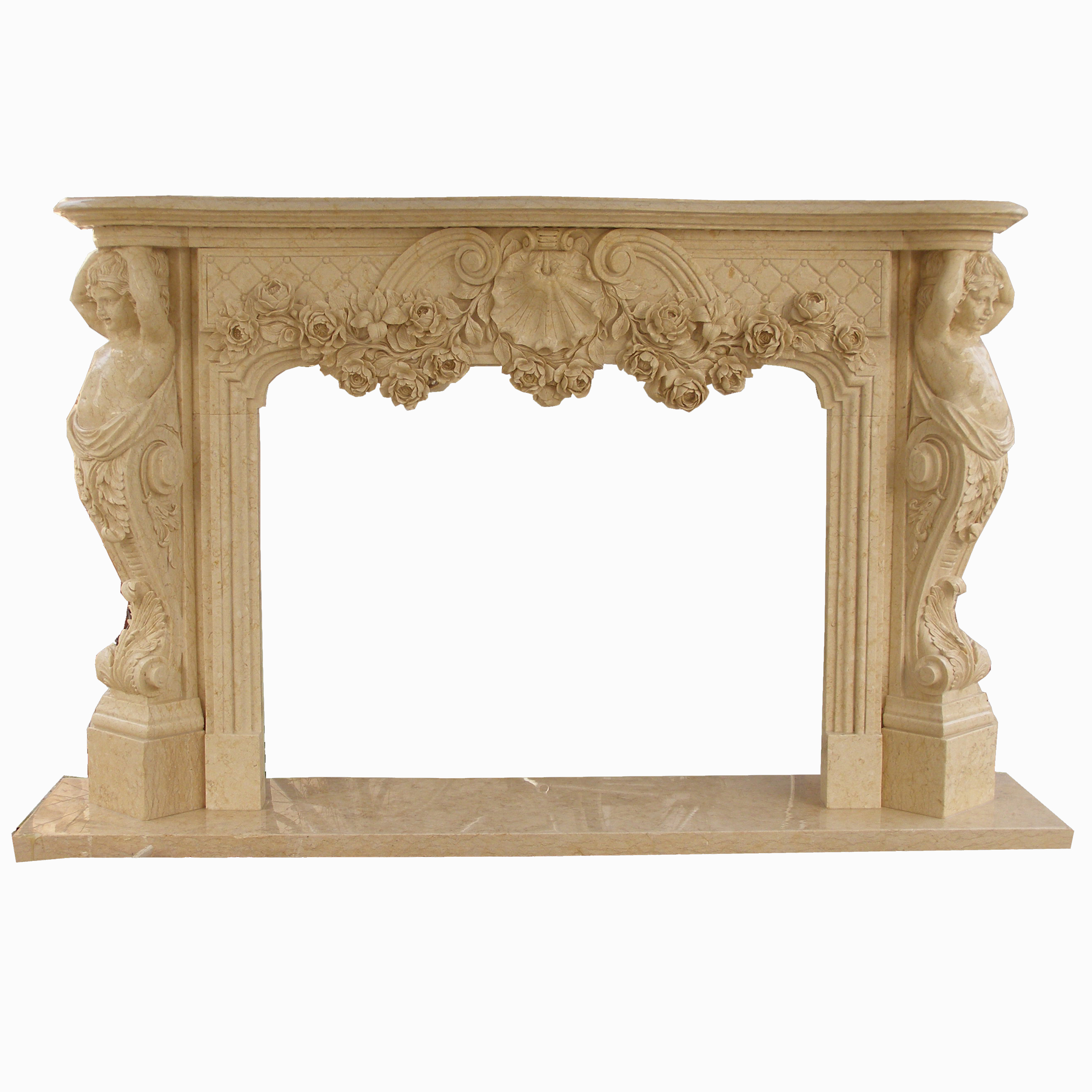 Natural Marble Stone fireplace surrounding marble Hanging Fireplace