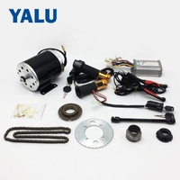 Ebike KIT 36v 1000W Electric Bicycle E Bike Complete Conversion brushed Motor kit with China chain and Aluminium brake Lever