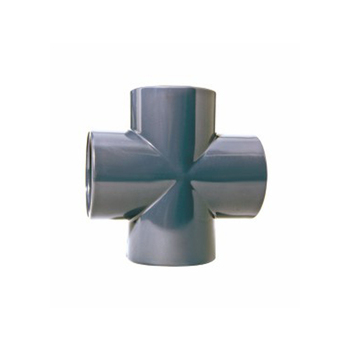 PN16 110mm UPVC PVC Pipe Fitting 4 Way 4-Way Connector Cross Joint Tee