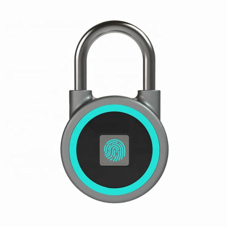 fingerprint padlock,bluetooth connection metal waterproof smart padlock combination lock for door,backpack,bike,Gym,office