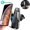 Qi Car Wireless Charger For iPhone 8 X XS Max XR Samsung Mobile Phone Charger 10W Fast Wireless Car Charging Mount Holder
