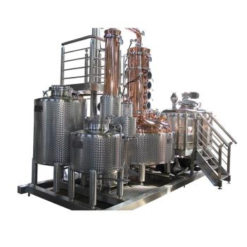 Stainless steel distilling equipment whisky system still moonshine copper distillery for sale