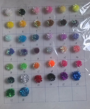 Tinsel Pompoms for Craft and Hobby Supplies