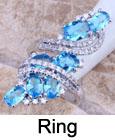 אטרקטיבי ירוק אמרלד לבן טופז 925 כסף סטרלינג כיסוי הטבעת עבור נשים גודל 6 7 8 9 משלוח חינם & תכשיטים תיק S0221