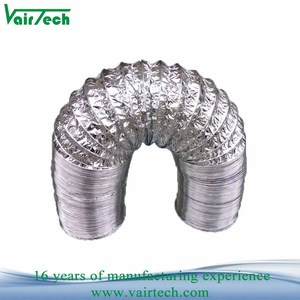 resistance air conditioning ventilation duct 5 inch two layer aluminum foil  insulation flexible air duct hose