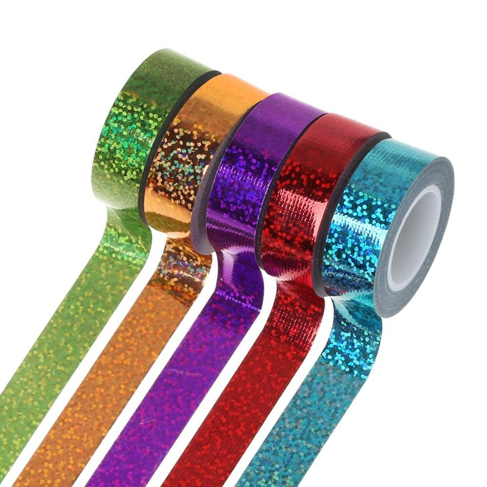 Custom Holographic laser rhythmic gymnastics decor tape holographic glitter duct tape adhesive tapes DIY sticker ring stick