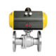 COVNA DN80 3 inch 2 Way Double Flange Type Remote Operated Stainless Steel Pneumatic Actuated Ball Valve