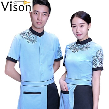 printing SPA uniforms hotel housekeeping Lightiform hostess hotel maid uniform hotel hostess uniform