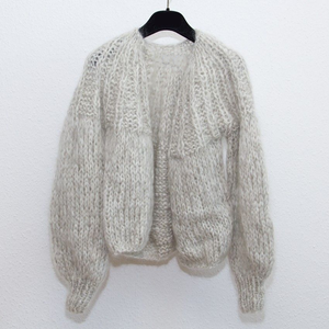 Super Soft Hand Knit Kids Mohair Merino Wool Cardigan Coat