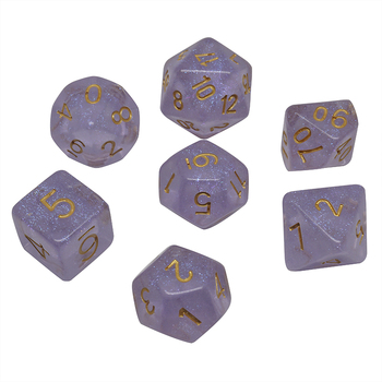 Factory new flash powder 7 multi - sided dice set DND dice game customize color