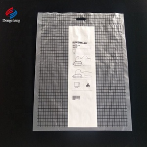 HDPE & LDPE Frost Die Cut Handle Packaging Bag For IKEA Pillow