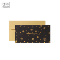 Wholesale Personalized Custom Made Floral Gold Stamping Christmas Greeting Thank You Cards