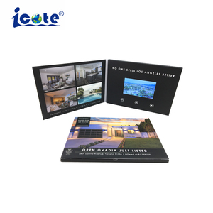 Customized Printing 4.3 Inch Lcd Screen Video Brochure For Advertising