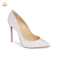 Infinite Stroll Girl G1904022 guangdong red sole high heel shoes women pumps