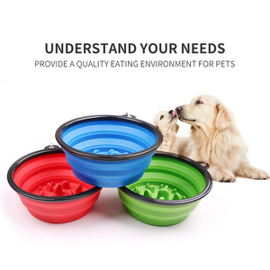 OEM/ODM 350ml/1000ml portable pet bowl dog food feeder pet portable bowl
