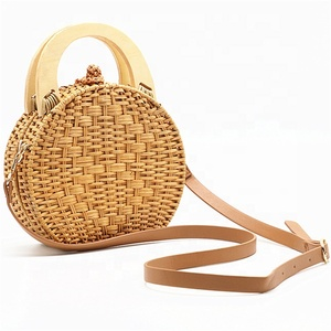 Wholesale New Style Women Clutch Weave Bag Bamboo Rattan Woven Handbag Handmade Large Tote Bag For Summer Beach Shoulder Bag