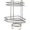 2 Tier power coating storage rack shelf kitchen chrome plated wire hanging bathroom wall rack metal hanging towels shower rack
