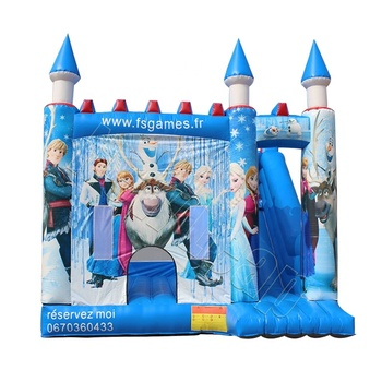 Inflatable frozen bouncy castle, princess castle for kids