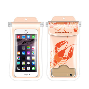 Full Sealed floating waterproof phone case PVC mobile phone waterproof bag for universal size