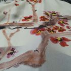 Digital Printed Fabric 5%Linen 35%Viscose 60%cTencel Woman Garment Fabric