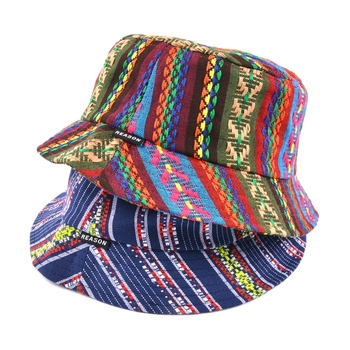 custom colorful 100% cotton twill girls women bucket hats