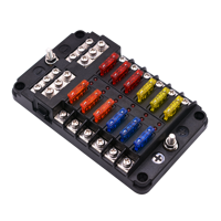 Auto Car Fuse Box 12 Way M5 Stud independent positive and negative for Auto Car Boat Marine Trike Caravan