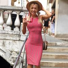 78391308515 Add to Favorites · Summer Women Sexy sleeveless Back Lace Dress White And  Red Striped Dresses 2019 New Casual Elegant ...