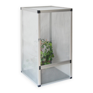 Large size white color Aluminum screen cage reptile terrarium for bearded  dragon and tortoise