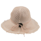 custom chinese Wholesale white paper made foldable floppy toddler summer sun straw hat women