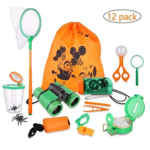 Outdoor Kit Toys for Kids Set 12 in 1 Adventure Kid Camping Exploration Toys Outdoor Explorer Kit