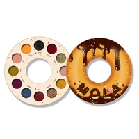 Popular Circular Shape Doughnut Makeup Cruelty Free Vegan Eyeshadow Custom Private Label Cosmetics