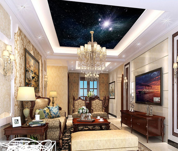 Royal Ceiling Wallpaper 3d Star Universe Design Glitter Wallpaper Specail Design For Ceiling Decor Buy Glitter Wallpaper Royal Ceiling Wallpaper
