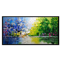 beautiful natural scenery wall art picture hand paint knife canvas oil painting
