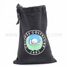 Free sample Soft flannel soft cloth bag black drawstring velvet jewelry pouch with custom logo