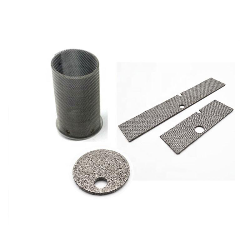 Толщина 0,7 мм чистая никелевая фильтрующая Сетка Из спеченного волокна