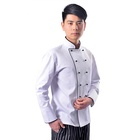 Wholesale Men Chef wear Uniform White Oilproof Custom Chef Coat jacket Clothes for restaurant hotel kecthen