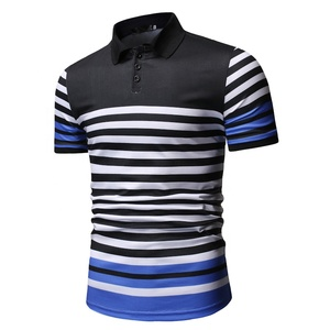 Golf Printing Wholesale Color Combination Polo T-Shirt Men
