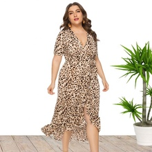 <span class=keywords><strong>Vestido</strong></span> de leopardo de talla grande 5XL <span class=keywords><strong>6XL</strong></span> de venta al por mayor de Amazon China