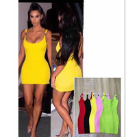 Hot sale Guangzhou Cheap Sexy Bodycon Celebrity Dropship Vestidos Bandage Dress Women