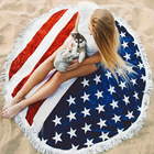 Custom sand free fast drying towel ,100% cotton round Bath beach towel with cover