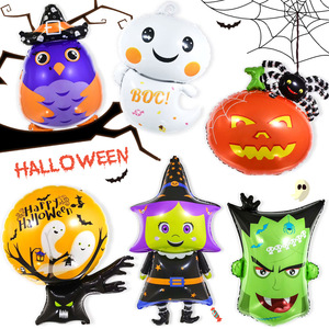 Halloween Pumpkin Ghost Balloons Halloween Decorations Spider Foil Balloons Inflatable Toys Globos Halloween Party Supplies