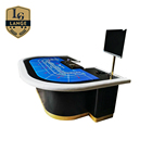 High Class Professional 10 person Luxury Baccarat Outdoor Poker Table