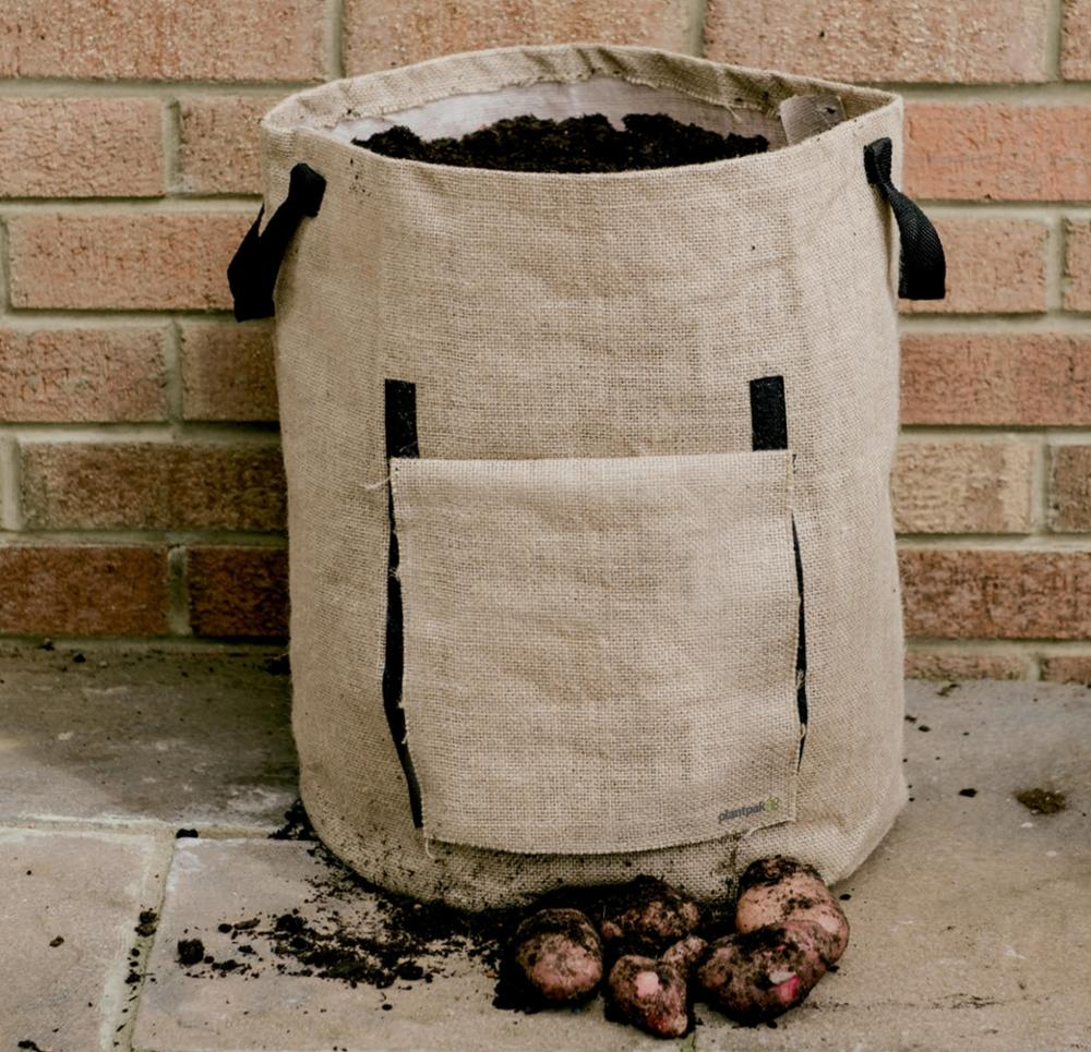 In Stock.5PACKS Potato Grow Bags 43L Window and Handles Garden Vegetable Grow Bags  Jute Heavy Duty,