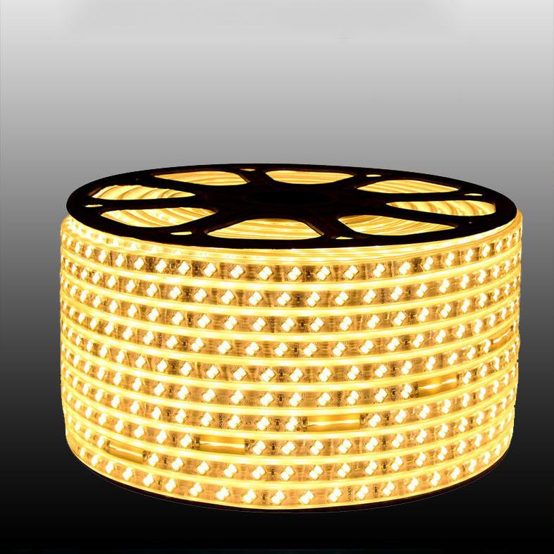220V led stripe 5730 led strip lights 2 row 120led white/warm white IP67 waterproof led RGB tiras leds online retail store